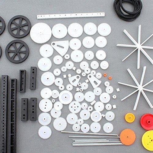 92 Pcs Engrenage En Plastique Moteur Boîte De Vitesse Modèle Jouet Bateau De Voiture Auto Artisanat DIY Accessoires