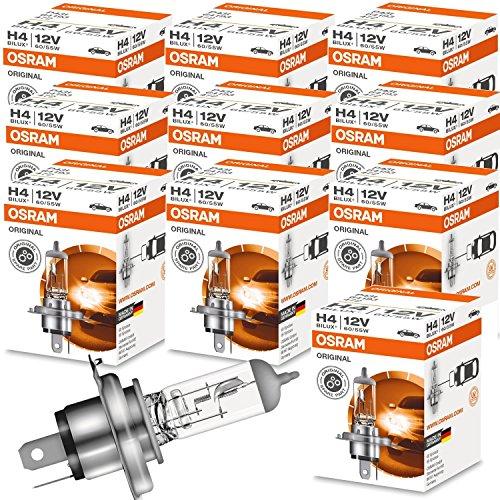 10x OSRAM Lampe Halogenlampe Glühlampe H4 ORIGINAL LINE 12V 60/55W P43t 64193