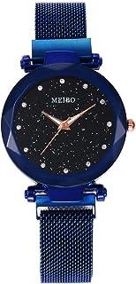 💗DEESEE(TM) 💗MEIBO Women's Casual Quartz Stainless Steel Newv Strap Watch Analog Wrist Watch (D)