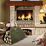 INNO STAGE Canvas Log Carrier Bag,Waxed Durable Wood Tote,Fireplace Stove Accessories,Extra Large Firewood Holder with… 8