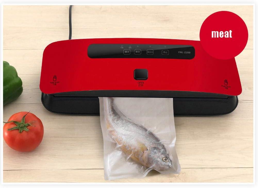 Automatique À Vide Petit Sac Alimentaire Machine d'emballage sous Vide Commercial Domestique Thé Machine Étanchéité Machine Étanchéité en Plastique,Rouge Brass