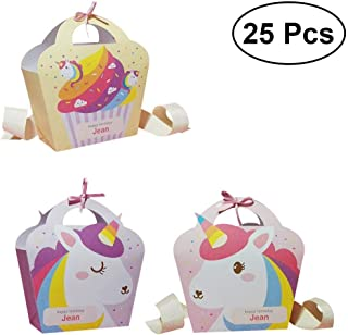Un ncie 25PCS Unicorn Gift Bags Cartoon Sugar Cookies Package Bags Party Favor Bags for Wedding Birthday Party