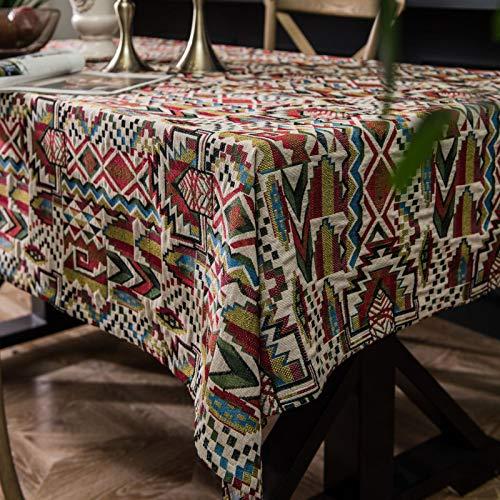 BECCYYLY Mantel Decorativo Mantel Bohemio Mantel para Mesa de Comedor tapete nórdico decoración del hogar repisas rectangulares