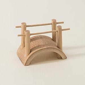ICNBUYS Zen Garden Accessory - Mini Bamboo Bridge Length 2.17 inches 5.5 cm Height 1.77 inches 4.5 cm