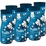 Gerber Graduates <span class='highlight'>Puff</span>s Cereal Snack, Vanilla, Naturally Flavored with Other Natural Flavors, 1.48 Ounce, (Pack of 6)