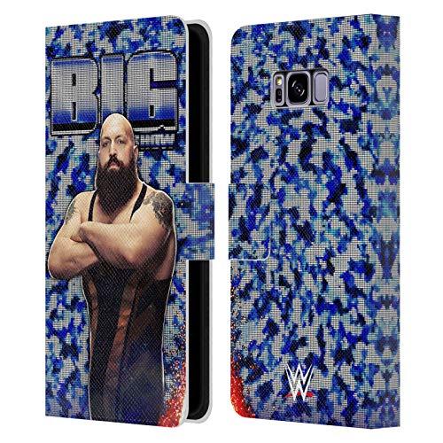 Head Case Designs Oficial WWE Imagen LED Gran Espectáculo Carcasa de Cuero Tipo Libro Compatible con Samsung Galaxy S8+ / S8 Plus