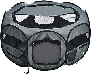 AmazonBasics – Corral para mascotas suave y transportable, 89 cm, Gris