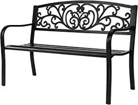cheap outdoor metal benches