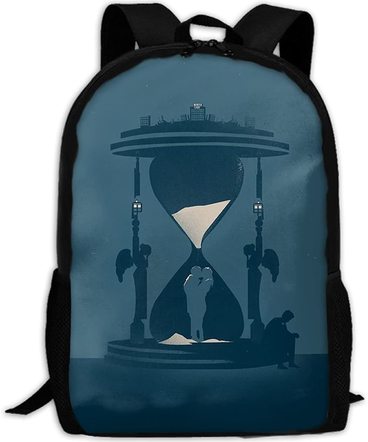 Adult Backpack Hourglass Kiss College Daypack Oxford Bag Unisex Business Travel Sports Bag with Adjustable Strap