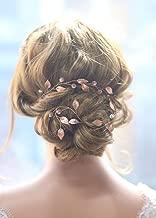 Missgrace Women Handmade Fashion Crystals Bridal Rose Gold Headband Wedding Headpiece Accessories