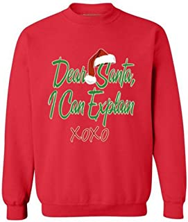 Awkwardstyles Dear Santa I Can Explain Christmas Sweater Xmas Gift Sweatshirt