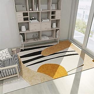 Bureau de Tapis Jaune Beort Pile Tapis Décore Salle des Enfants Anti-Smaid Decoration Chambre Fille ado Accessoire Chambre...