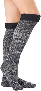 SherryDC Women's Cable Knit Long Boot Socks Over Knee High Winter Leg Warmers