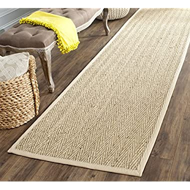 Safavieh Natural Fiber Collection NF115A Herringbone Natural and Beige Seagrass Area Rug (2'6  x 4')