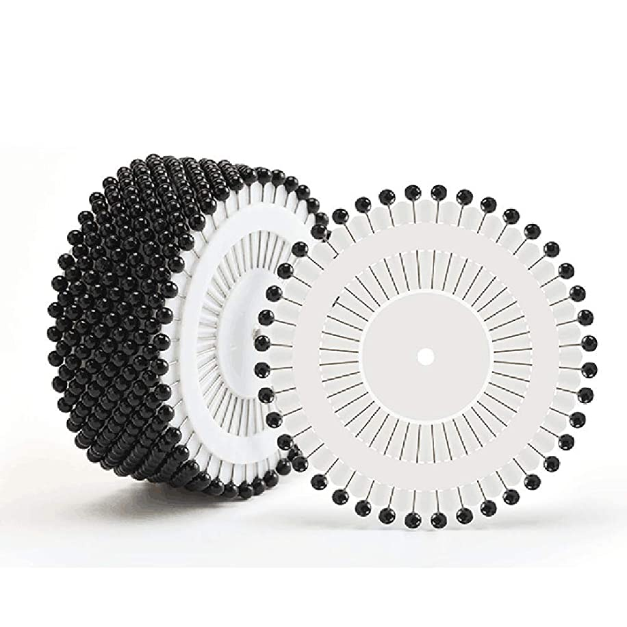 SYHL Round Pearl Head Sewing Pins Straight Pins Head pins,1.5 inch - 480 Pcs (Black)