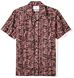 Amazon Brand - 28 Palms Men's Standard-Fit 100% Cotton Tropical Hawaiian Batik Shirt, Tiki Brown, Medium