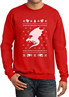 Big White Dragon Wings Ugly Christmas Sweater Style Xmas Apparel Sweatshirt