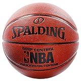 Spalding NBA Grip Control In/out Sz.7 (74-577Z) Balón de Baloncesto, Hombre, Naranja, 7