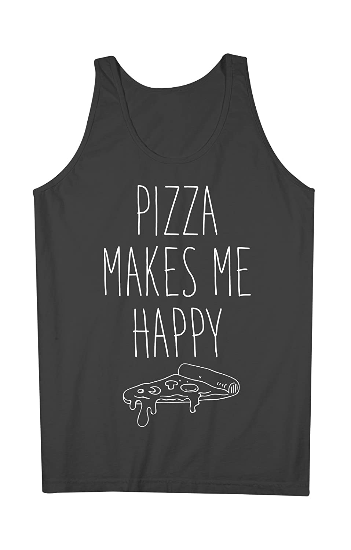 Pizza Makes Me Happy おかしいです 男性用 Tank Top Sleeveless Shirt