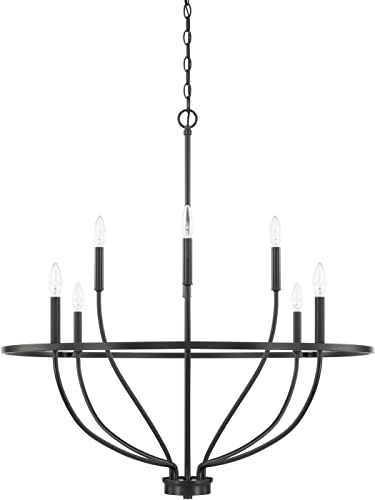 discount HomePlace 428581MB Greyson Chandelier, high quality 8-Light 480 lowest Total Watts, Matte Black online