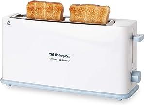 Orbegozo TO 4014 broodrooster met lange sleuf, 7 bruiningsniveaus, cool toast behuizing, kruimellade, broodjesverwarming, ...