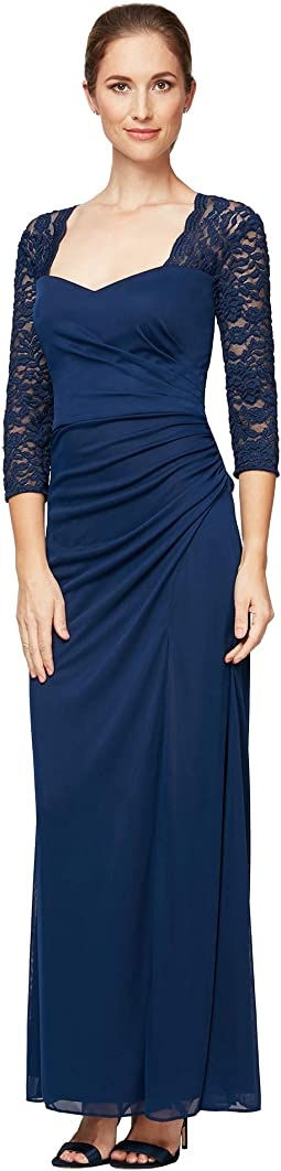 Long A-Line Dress with Sweetheart Neckline