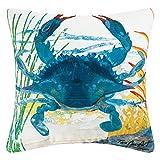 C&F Home Blue Crab Coastal Premium Indoor/Outdoor Decorative Accent Throw Pillow 18 x 18 Blue Crab