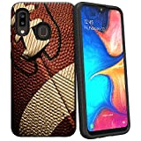 Compatible with Samsung Galaxy A20 / Samsung Galaxy A30 / Samsung Galaxy A50 | Textured Lines Embossed Hybrid Hard Plastic Shell TPU Bumper Case by Untouchble - Football