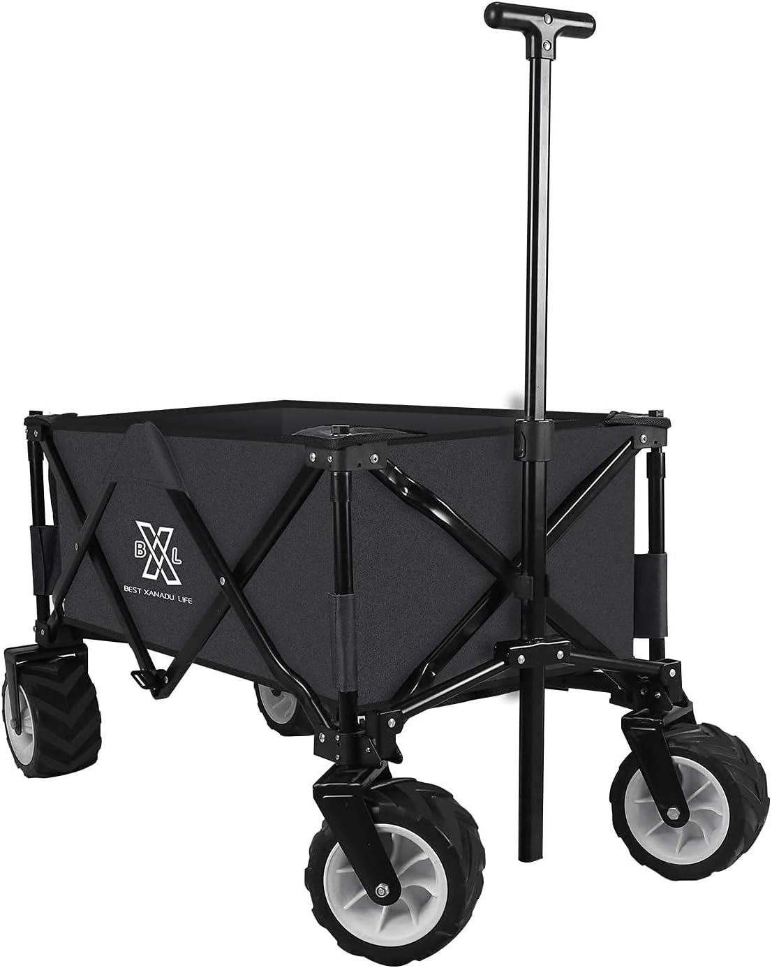 BXL Heavy Duty Collapsible Folding Wagon Phoenix Mall Utili Fixed price for sale Garden Cart Beach
