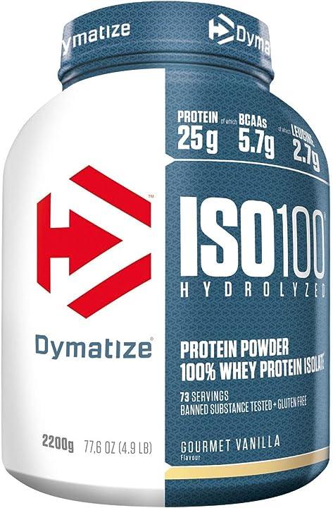 Proteine - dymatize iso 100 buongustaia vaniglia 2,2kg -  per prima e dopo l`allenamento DYM1032/590/11777