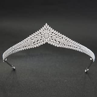 Crystals CZ Cubic Zirconia Wedding Bridal Diadem Tiara Crown for Women Hair Accessories CH10213