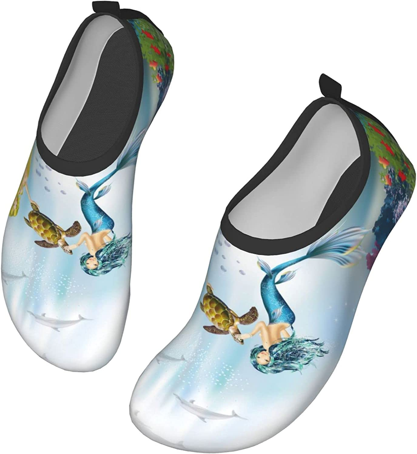 Marine Mermaid specialty shop Sea Turtle Dolphin Wome for Quick-Dry Now free shipping Shoes Water