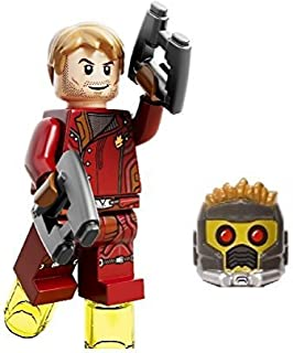LEGO Marvel Super Heroes Guardians Of The Galaxy Minifigure Star Lord Closed Jacket (Helmet, Hairpiece, & 2 Blasters)