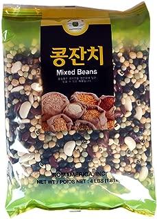 ROM AMERICA 6 Mixed Certified Beans Mix Bean Soup (4 Pound) - Black Bean, Green Pea, Lima Bean, Garbanzon Bean. 잡곡콩