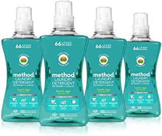 Method Concentrated Laundry Detergent, Beach Sage, 53.5 Ounce, 66 Loads (4 Count)