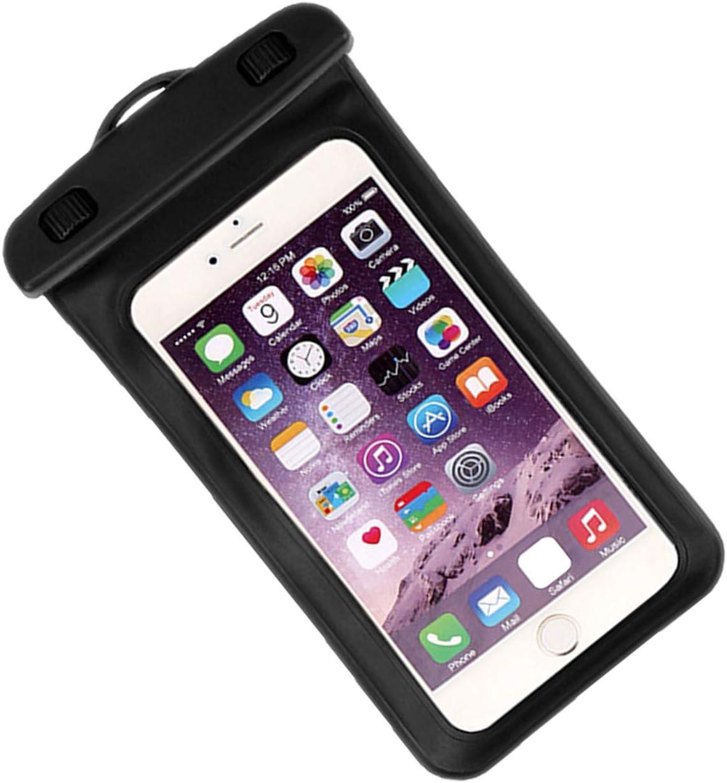 queenfoot Universal Waterproof Case, IPX8 Waterproof Pouch Cellphone Dry Bag Compatible iPhone 12…
