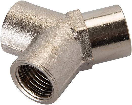 Silverline 245019 Druckluft Dreifachmuffe 1 4 Zoll Bspt Baumarkt