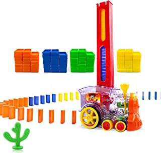 Mopoq Domino Train, Domino Building Blocks Game, Building And Stacking Toy Blocks Dominoes 3 To 7 Years Old Toys, Boys And...