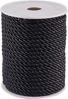 nylonschnur 5mm schwarz PandaHall Elite 21 Yards 20 m Twisted Schnur Seil Nylon Twisted Schnur Trim Faden String, schwarz