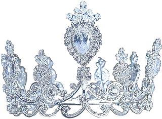 YNYA Tiare Sposa Corona Corona Temperamento Regina Corona Zircone Accessori per Capelli Abito da Sposa Accessori Regali di...