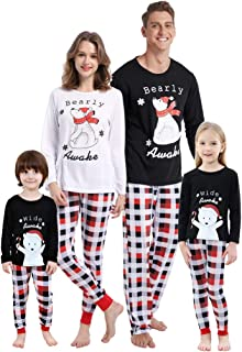 Matching Family Christmas Pajamas Set Soft Cotton Clothes Sleepwear