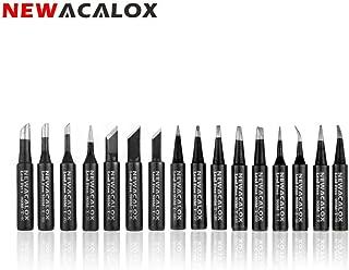 16pcs Lead-free Soldering Iron Tips Black Metal Welding Tips 900M-T for Hakko Weller Rework Soldering Station Tool Kits