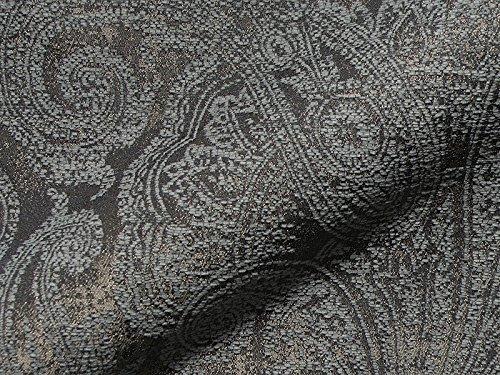 Raumausstatter.de Möbelstoff Swing 202 Muster Ornamente grau als robuster Bezugsstoff, Polsterstoff grau Gemustert zum Nähen und Beziehen, Polyester