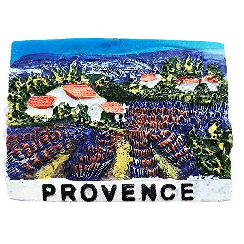 Aimant de réfrigérateur 3D Lavande Provence France Souvenir Cadeau souvenir Maison & Cuisine Décoration Sticker magnétique Provence France Aimant de réfrigérateur Collection