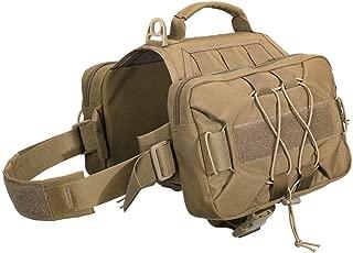 EXCELLENT ELITE SPANKER Dog Pack Hound Backpack Saddle Bag for Travel Camping Hiking Medium & Large Dog with 2 Capacious Side Pockets