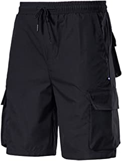 Halfword Mens Casual Cargo Trousers Shorts Jogger Running Combat Trainning Trousers with Pockets M-3XL