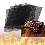 Tappetino a Rete Barbecue, 5 PCS Griglia Rete Barbecue Set, tappetino da forno riutilizzabile, per barbecue a carbonella, a gas e forno, 40 x 33 cm