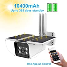 $139 » Solar Power Battery Security Camera A9,FUVISION 1080P Security IP CCTV Camera System,IP66 Waterproof,Night Vision,10400mAh Battery,2-Way Audio,Motion Detect and SD Card Slot for Outdoor Surveillance