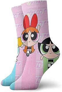 Bigtige, Calcetines para hombre Calcetines Powerpuff Girls Flying Painting Calcetines de compresión Cojines de lujo Calcetines de senderismo
