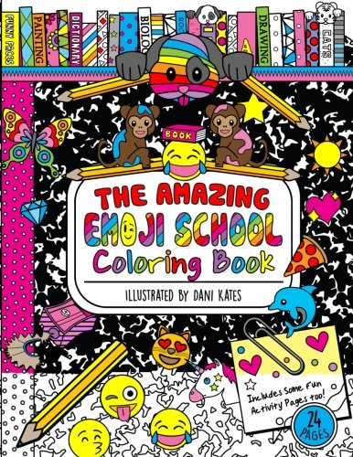 The Amazing Emoji School Coloring Book: 24 page Coloring Book